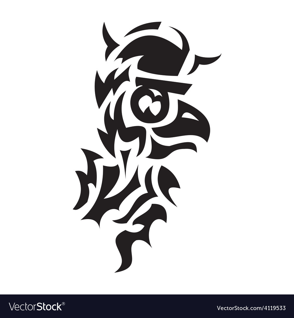 Bird viking tattoo vector | Price: 1 Credit (USD $1)
