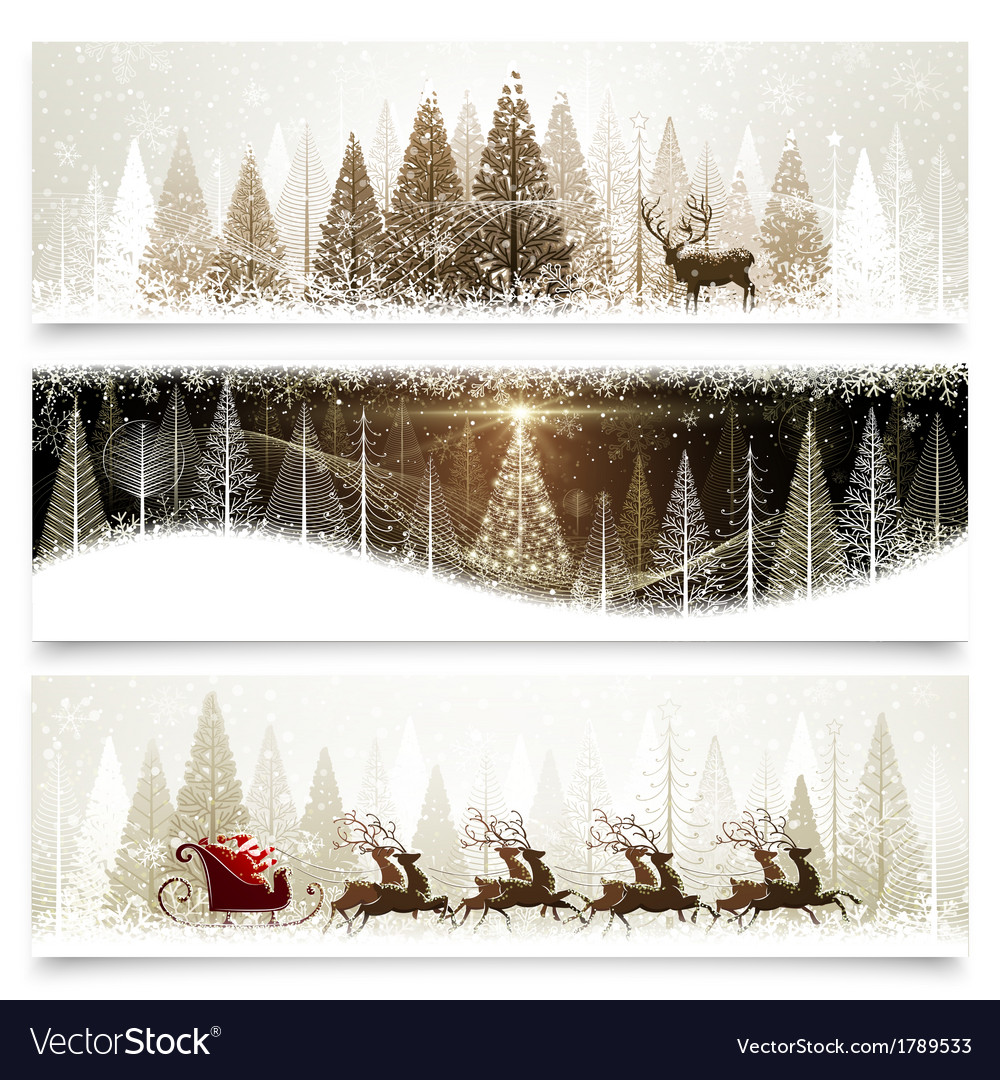 Christmas banners vector