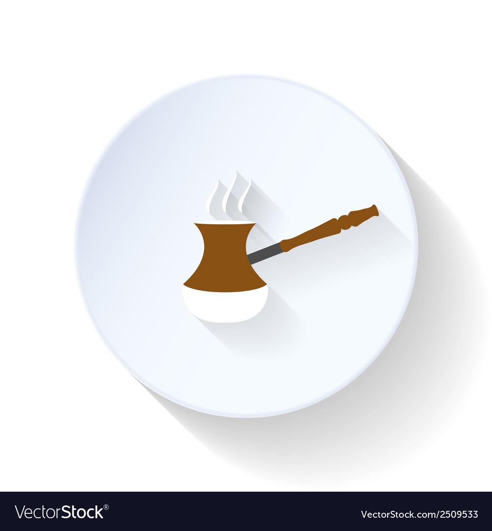 Coffee turk flat icon vector