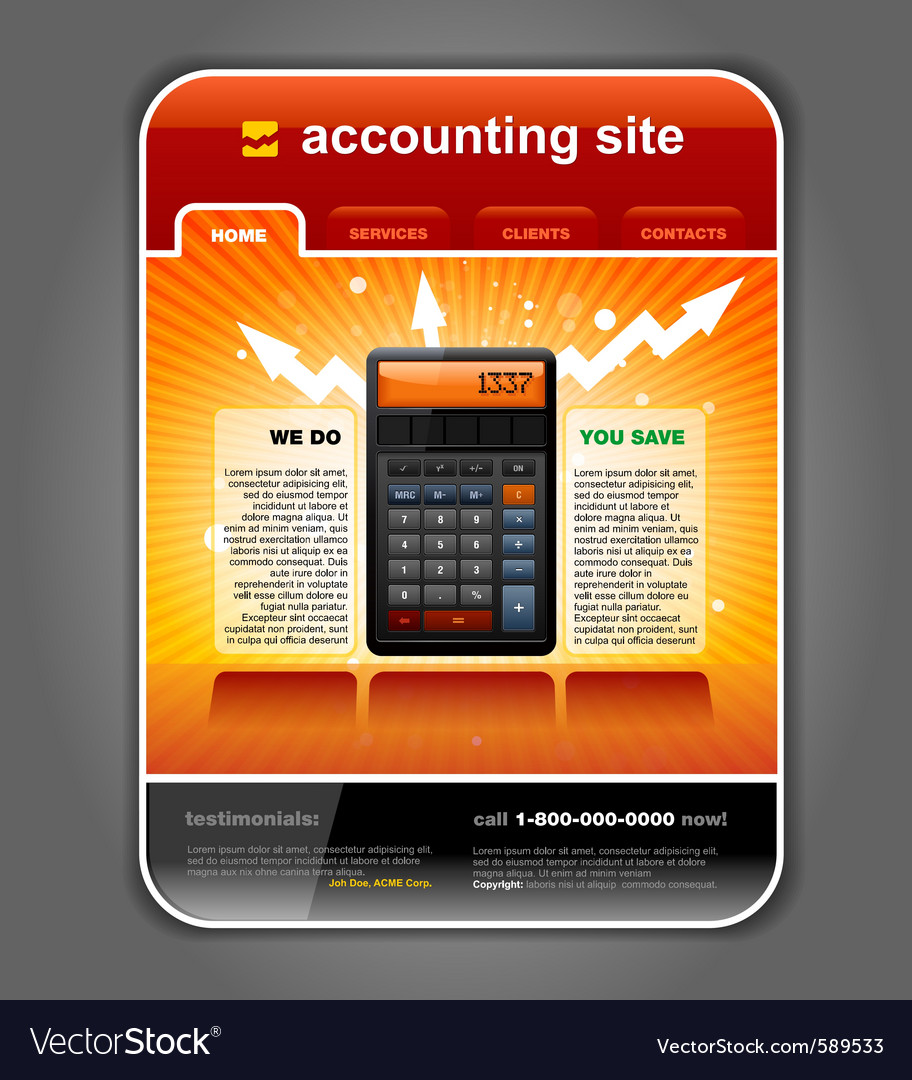 Finance accounting vector | Price: 3 Credit (USD $3)