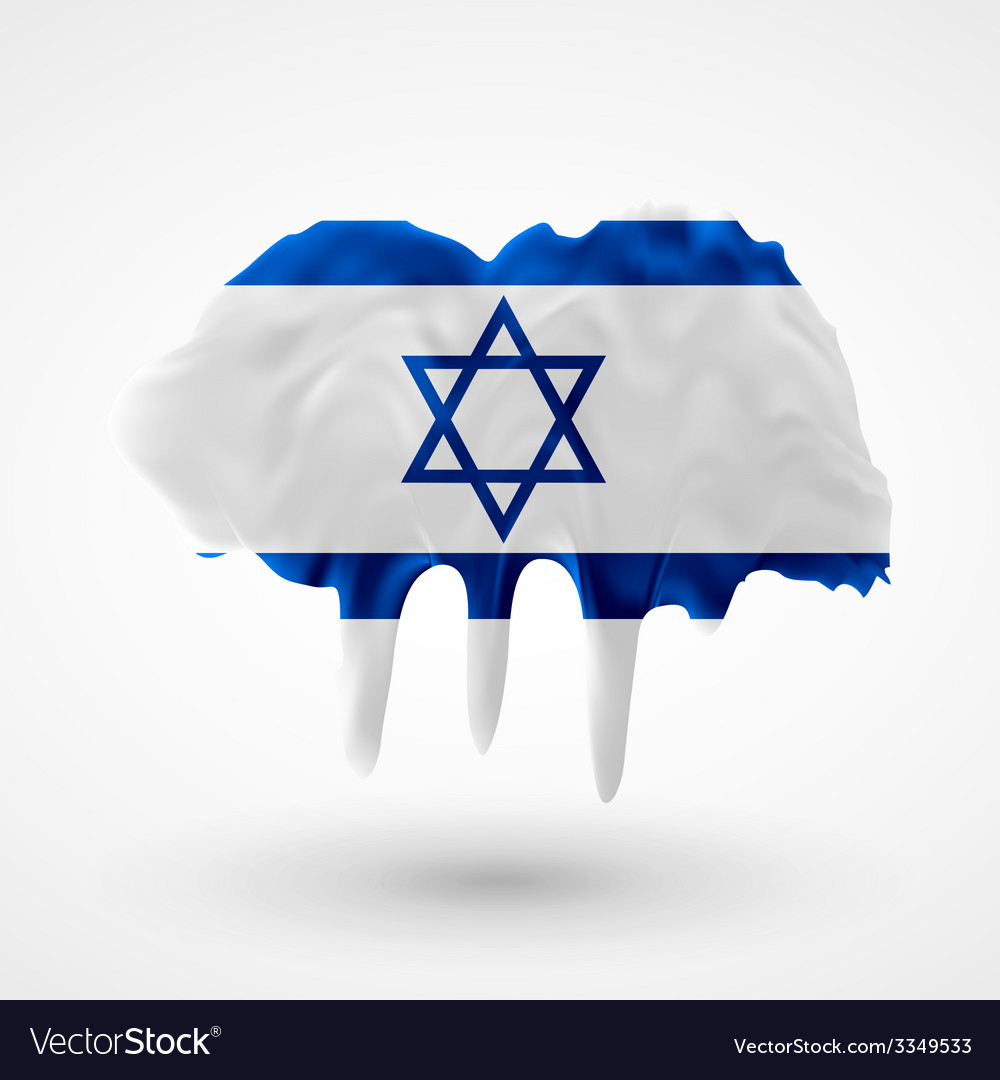 Flag of israel painted colors vector | Price: 3 Credit (USD $3)
