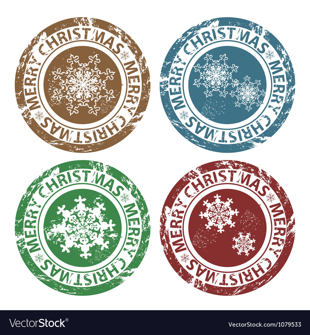 Grunge merry christmas stamps vector | Price: 1 Credit (USD $1)