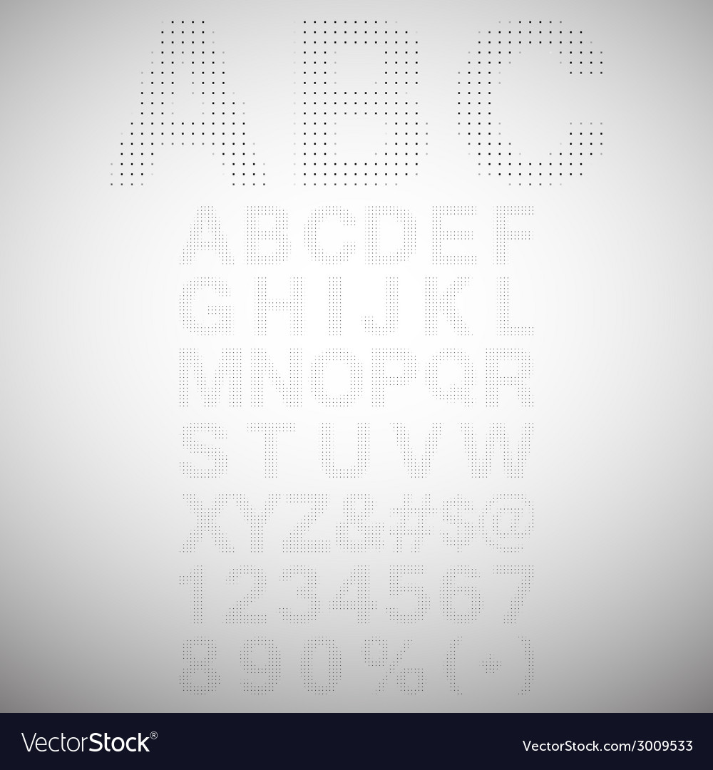 Pixel font - alphabets and numerals characters in vector | Price: 1 Credit (USD $1)