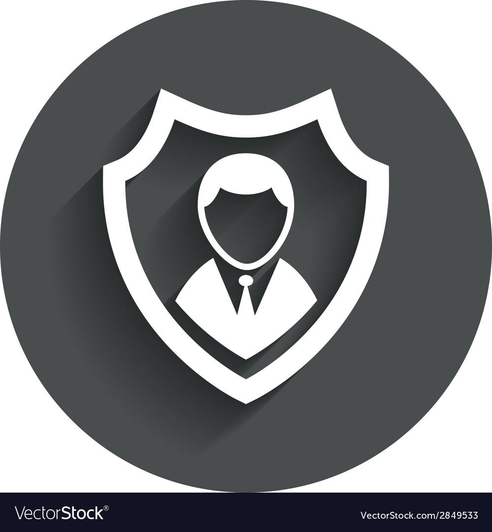 Security agency icon shield protection symbol vector | Price: 1 Credit (USD $1)