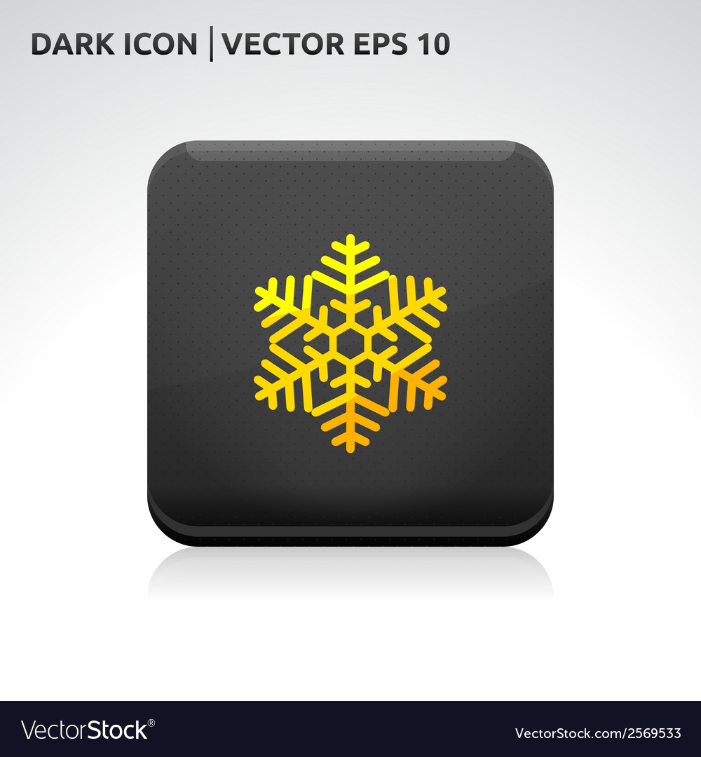 Snowflake snow icon gold vector | Price: 1 Credit (USD $1)