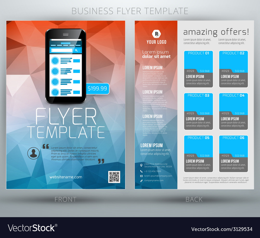 Abstract business flyer brochure template eps10 vector | Price: 1 Credit (USD $1)