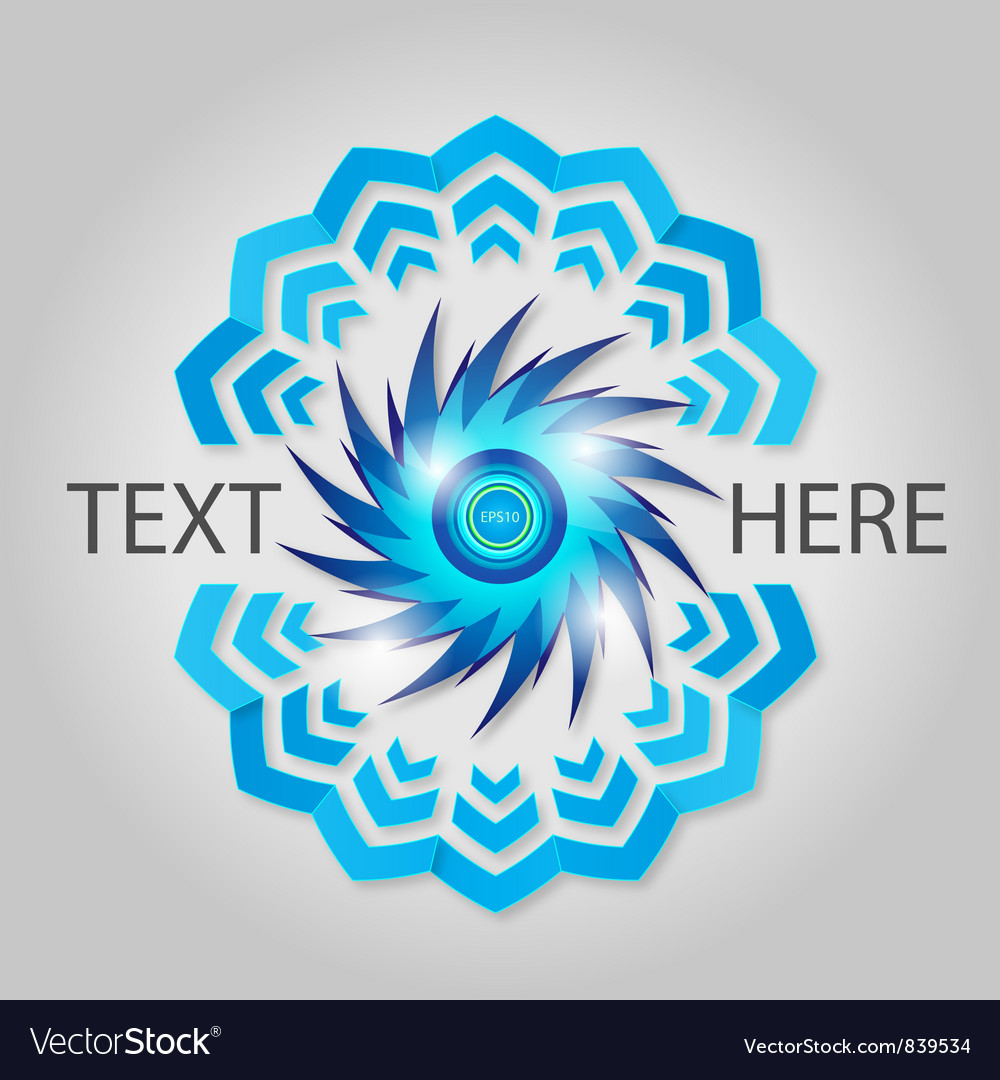Blue abstract element vector | Price: 1 Credit (USD $1)