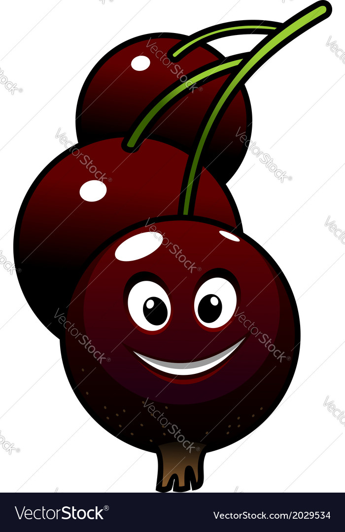 Cartoon tasty currant berries vector | Price: 1 Credit (USD $1)