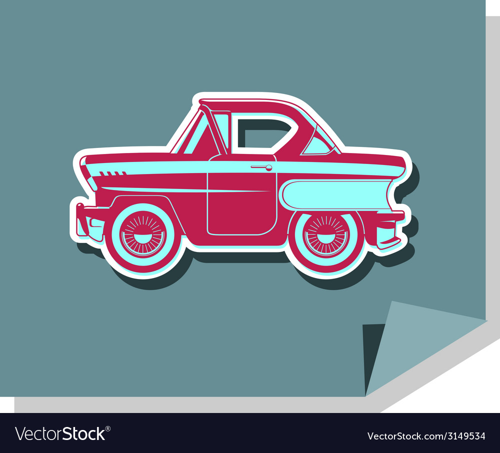 Classic cars - 60s vector | Price: 1 Credit (USD $1)