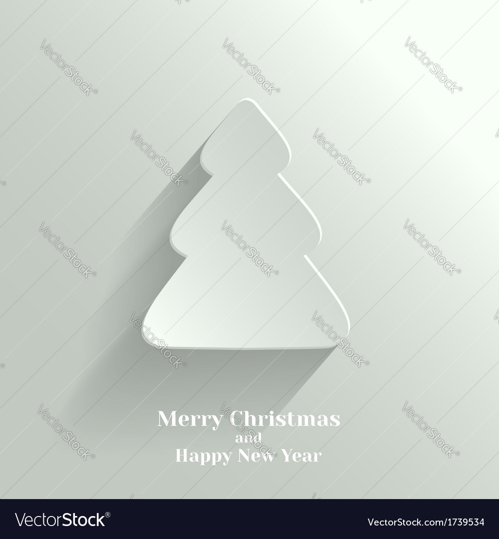 Creative white christmas tree vector | Price: 1 Credit (USD $1)