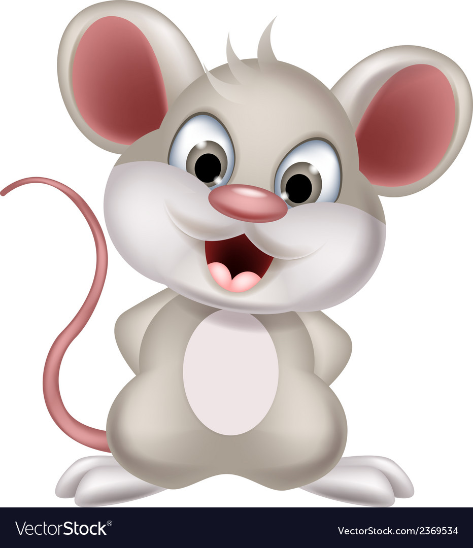 Cute mouse cartoon posing vector | Price: 1 Credit (USD $1)