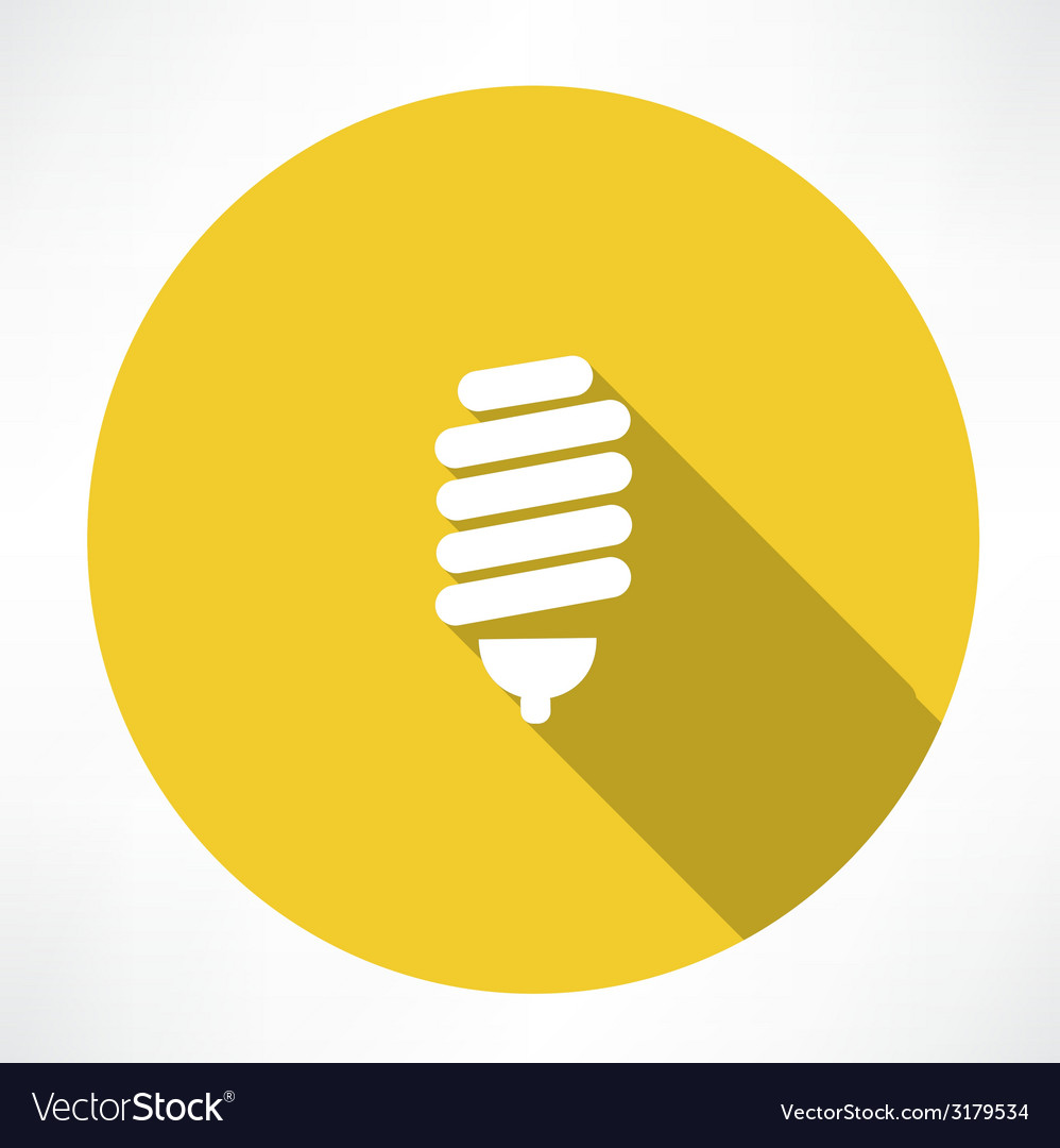Energy saving lamp icon vector | Price: 1 Credit (USD $1)