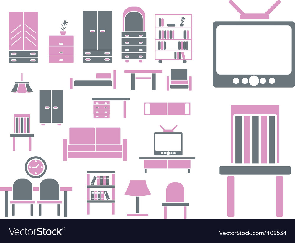 Furniture signs vector | Price: 1 Credit (USD $1)