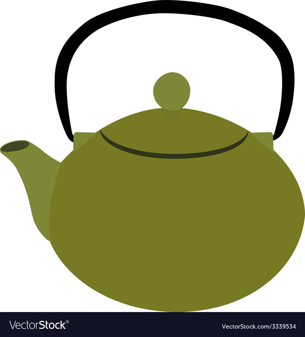 Green teapot vector | Price: 1 Credit (USD $1)