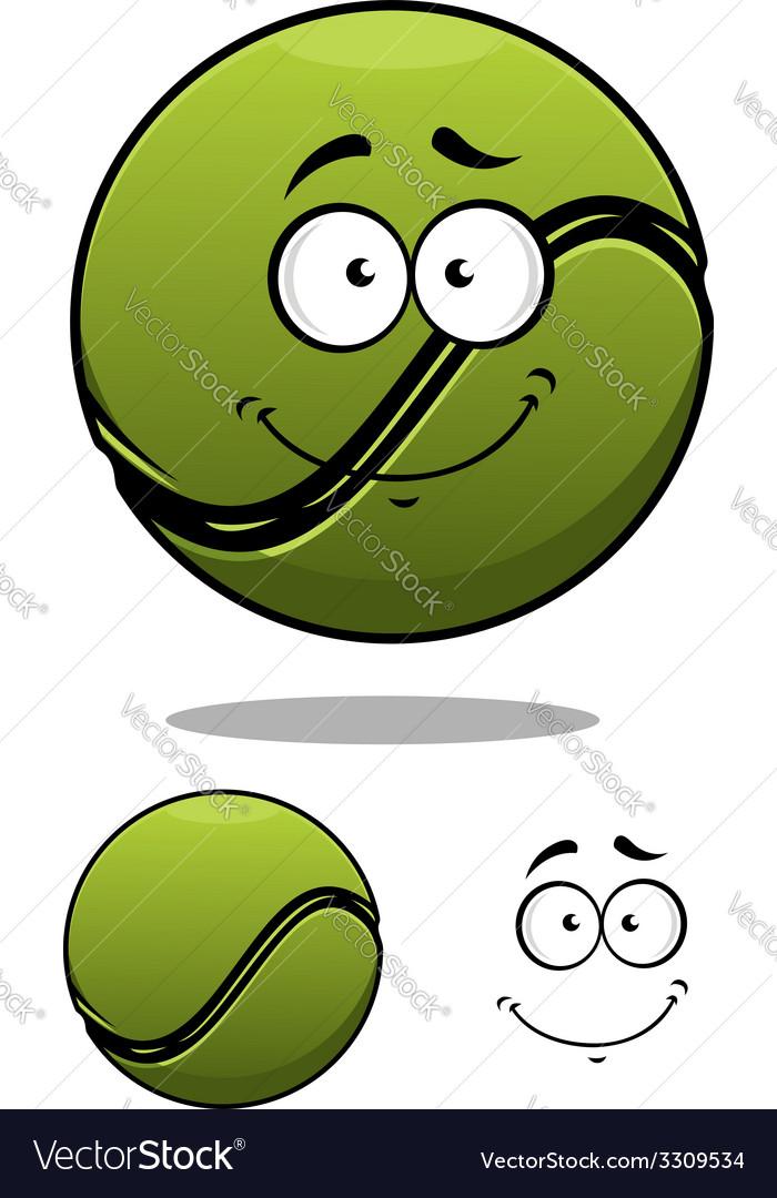 Happy cartoon tennis ball vector | Price: 1 Credit (USD $1)