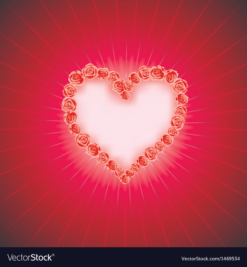 Heart of love diamond heart background with space vector | Price: 1 Credit (USD $1)