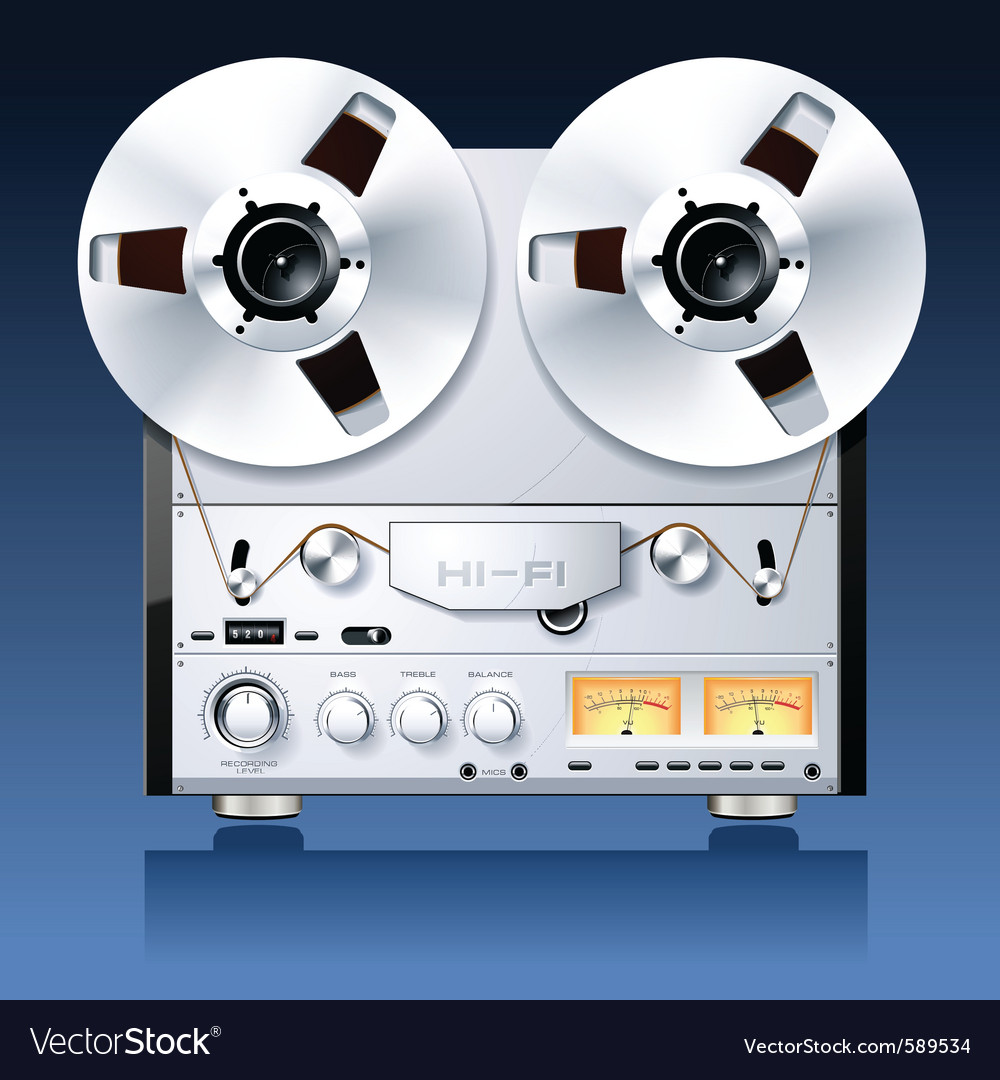 Hifi analog stereo vector | Price: 3 Credit (USD $3)