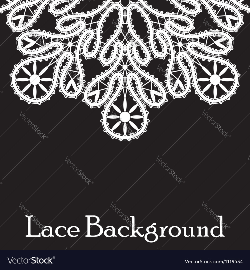 Realistic white lace vector | Price: 1 Credit (USD $1)