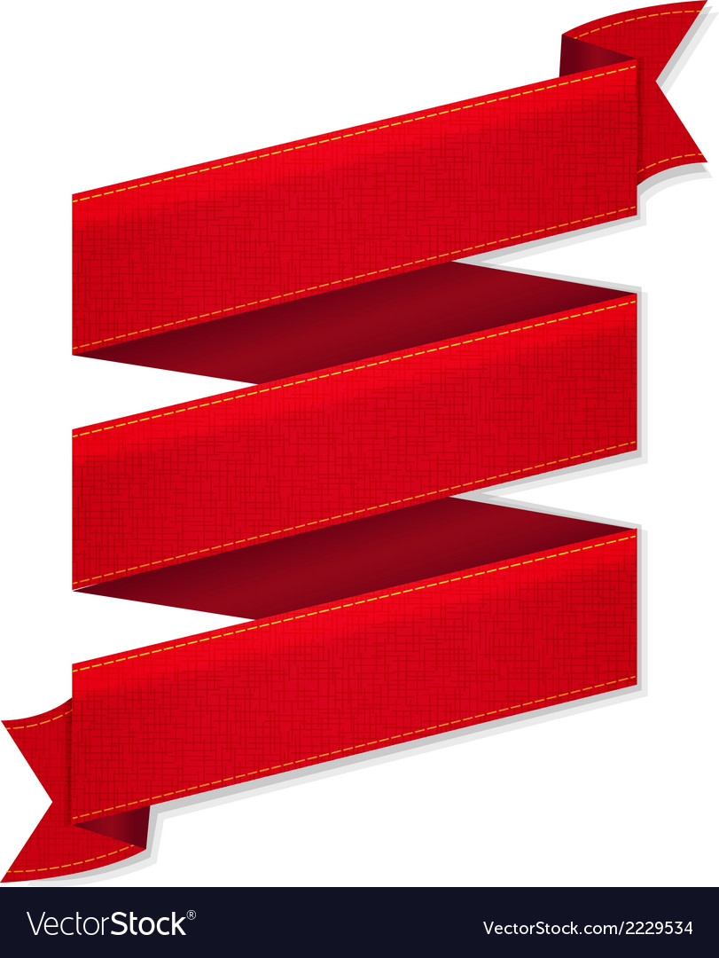 Red ribbon banner vector | Price: 1 Credit (USD $1)