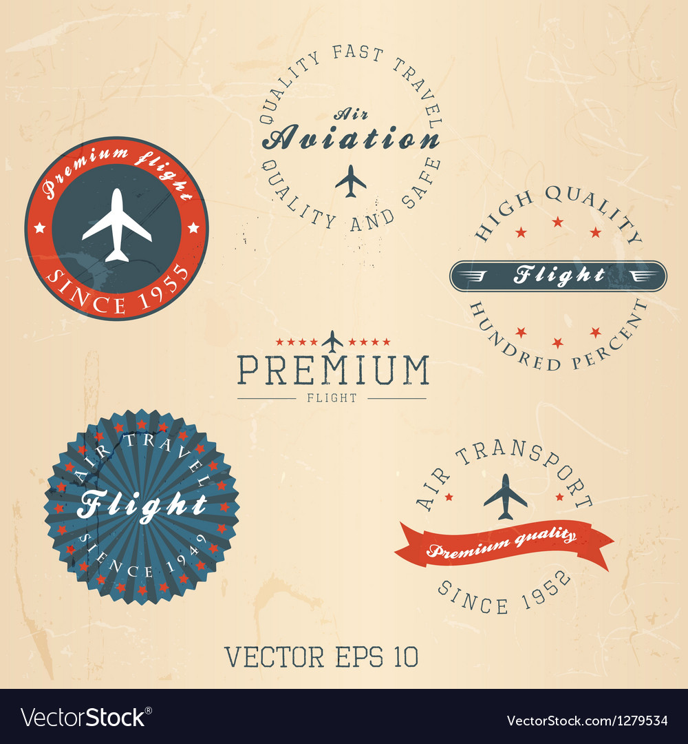 Retro badges and labels vector | Price: 3 Credit (USD $3)