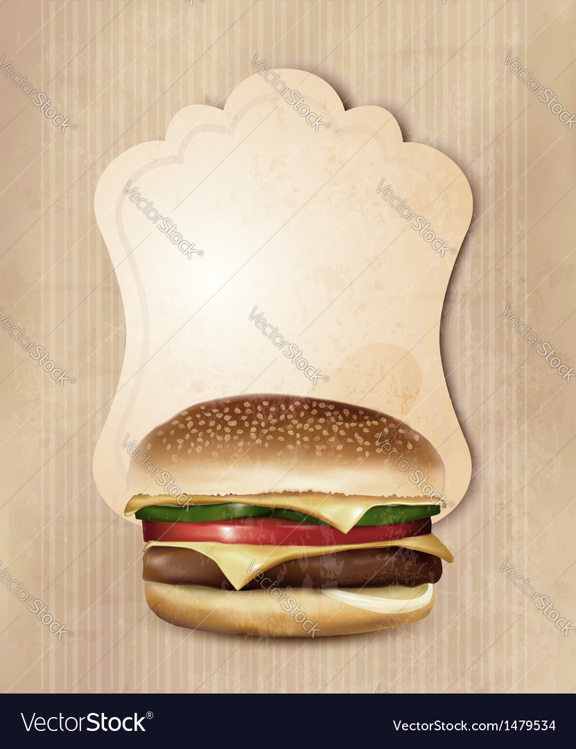 Retro fast food menu for burger vector | Price: 1 Credit (USD $1)