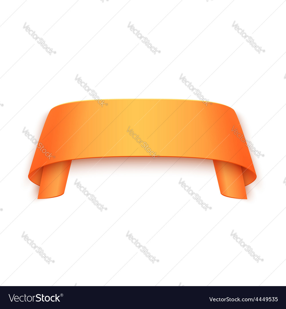 3d curved paper banner isolated on white vector | Price: 1 Credit (USD $1)