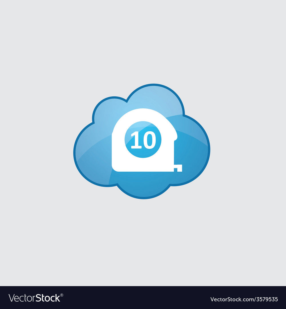 Blue cloud measurement icon vector | Price: 1 Credit (USD $1)