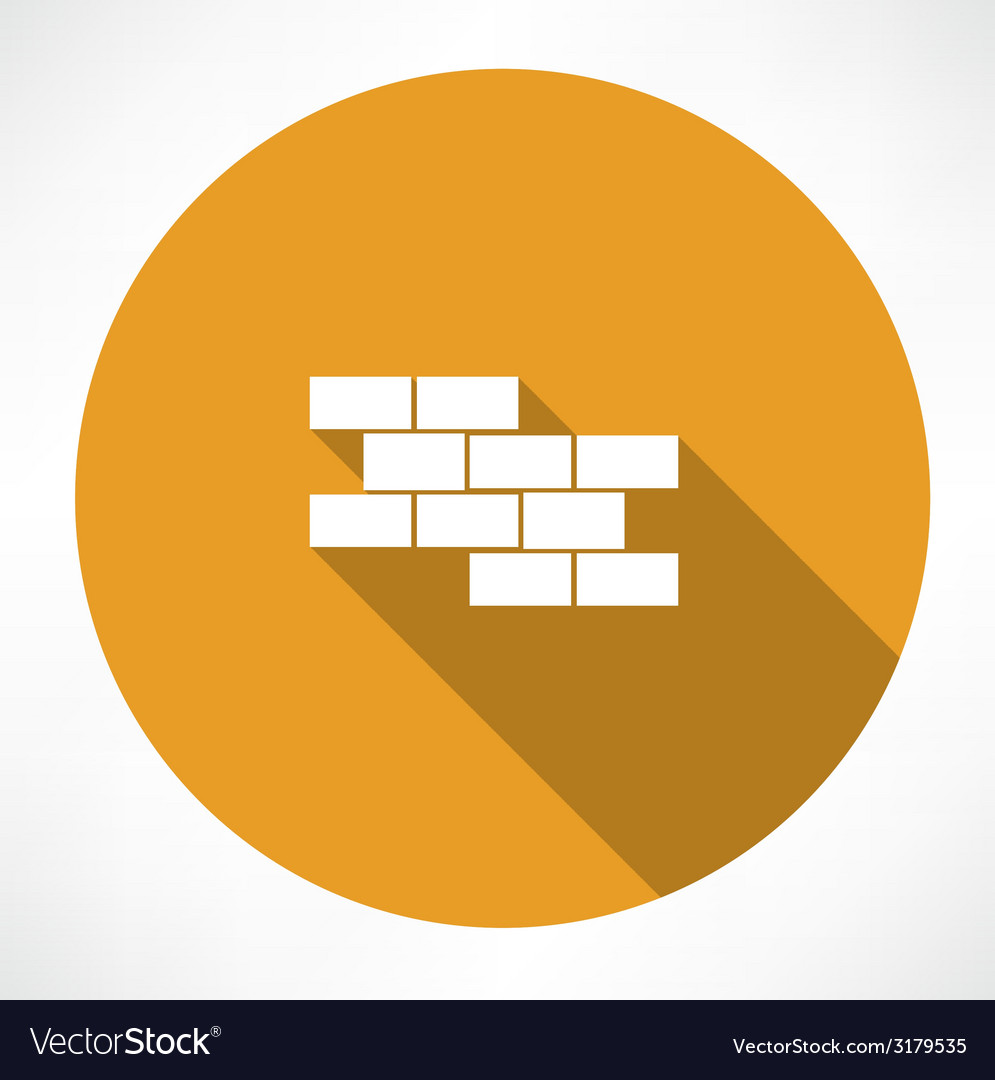 Brick wall icon vector