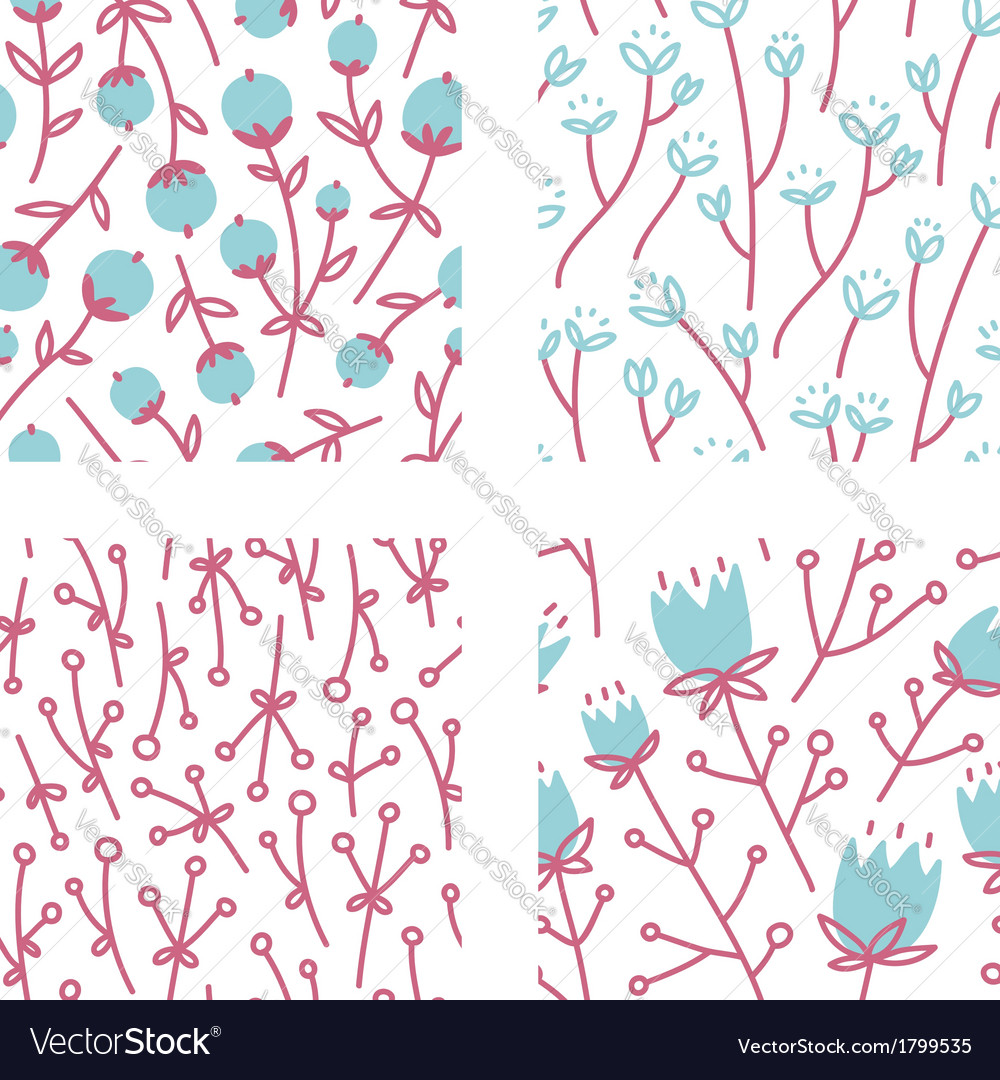 Floral patterns set 1 vector | Price: 1 Credit (USD $1)