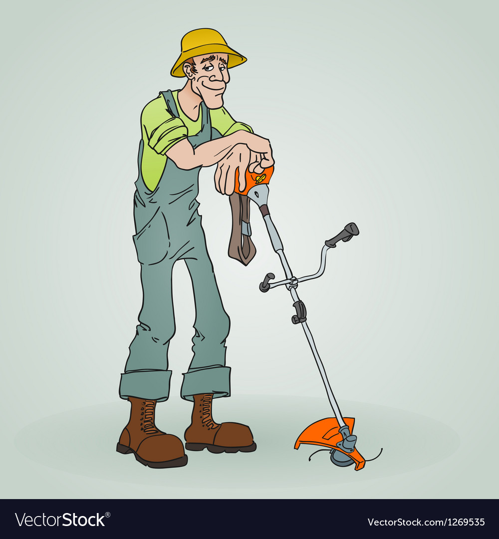 Gardener with reaper vector | Price: 3 Credit (USD $3)