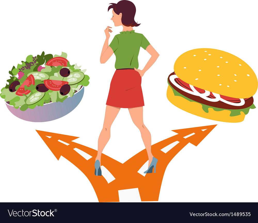 Healthy eating habits vector | Price: 1 Credit (USD $1)