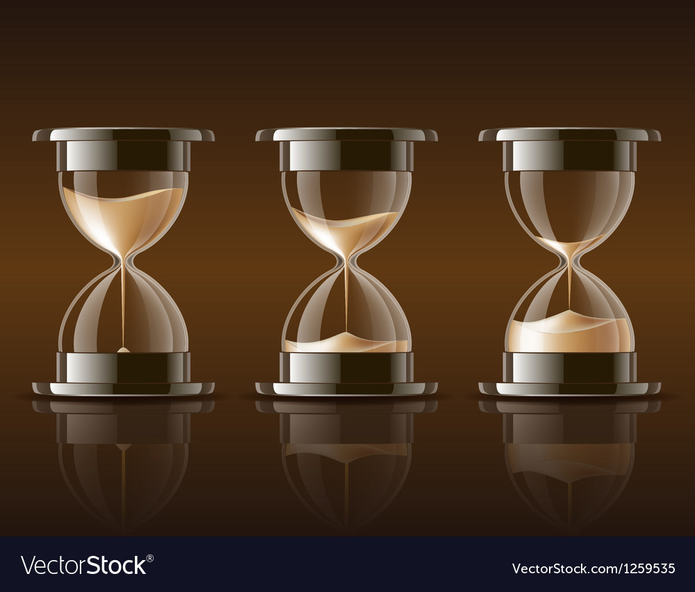 Sand falling in the hourglass vector | Price: 3 Credit (USD $3)
