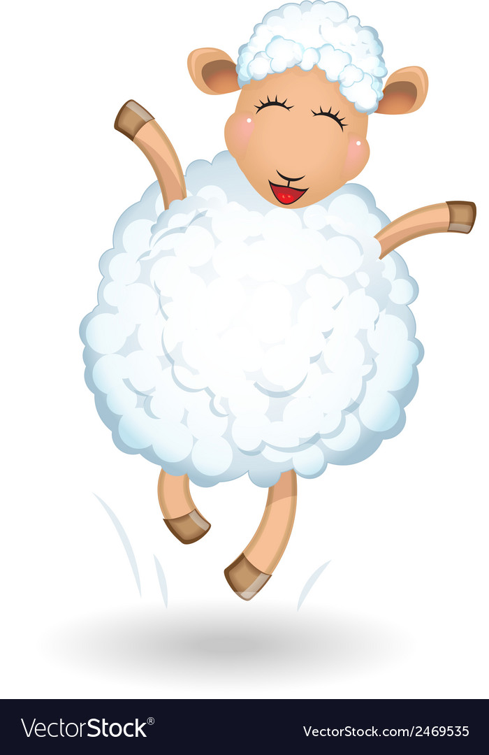 Sheep on white background vector | Price: 1 Credit (USD $1)