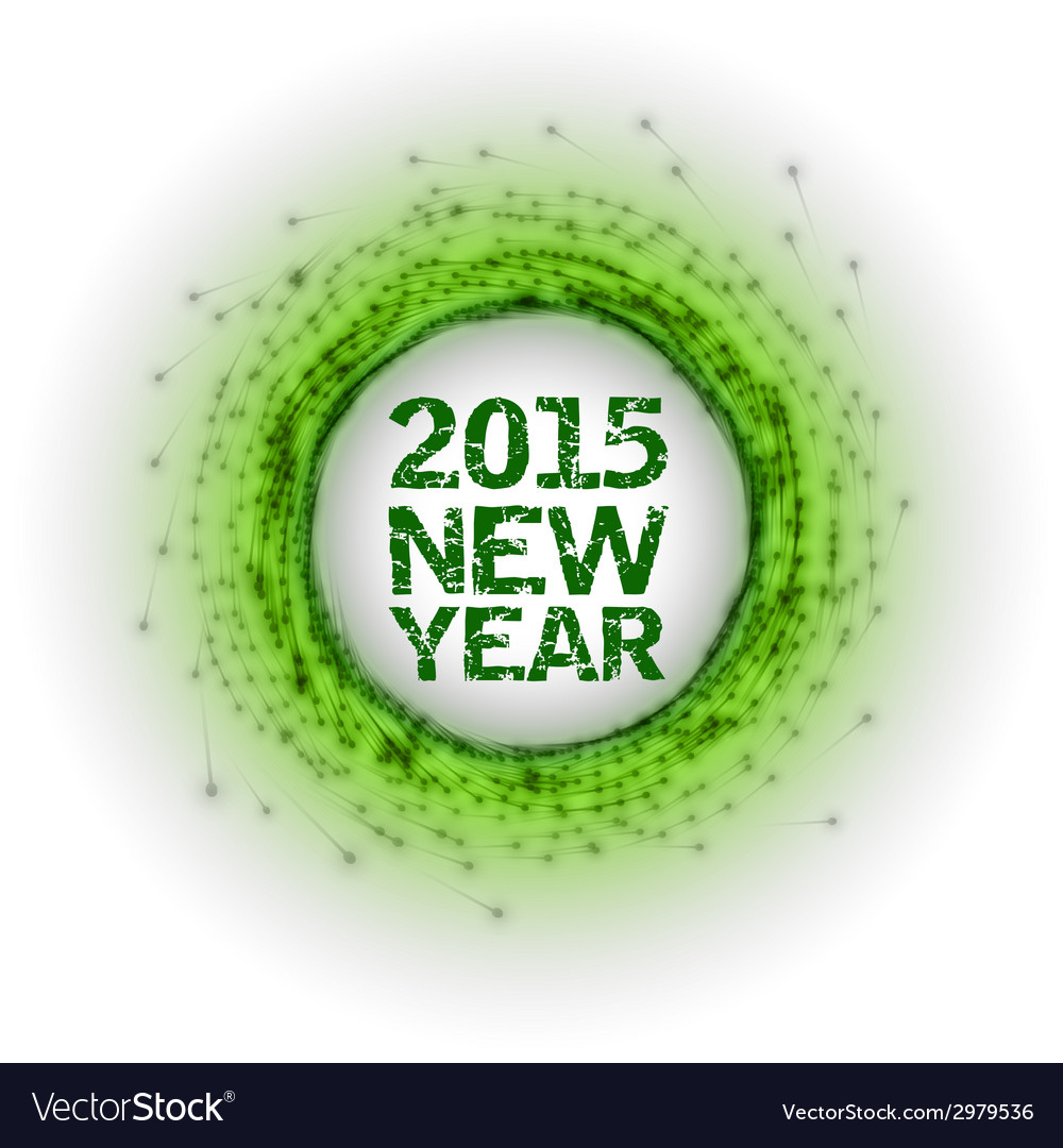 2015 fireworks green vector | Price: 1 Credit (USD $1)