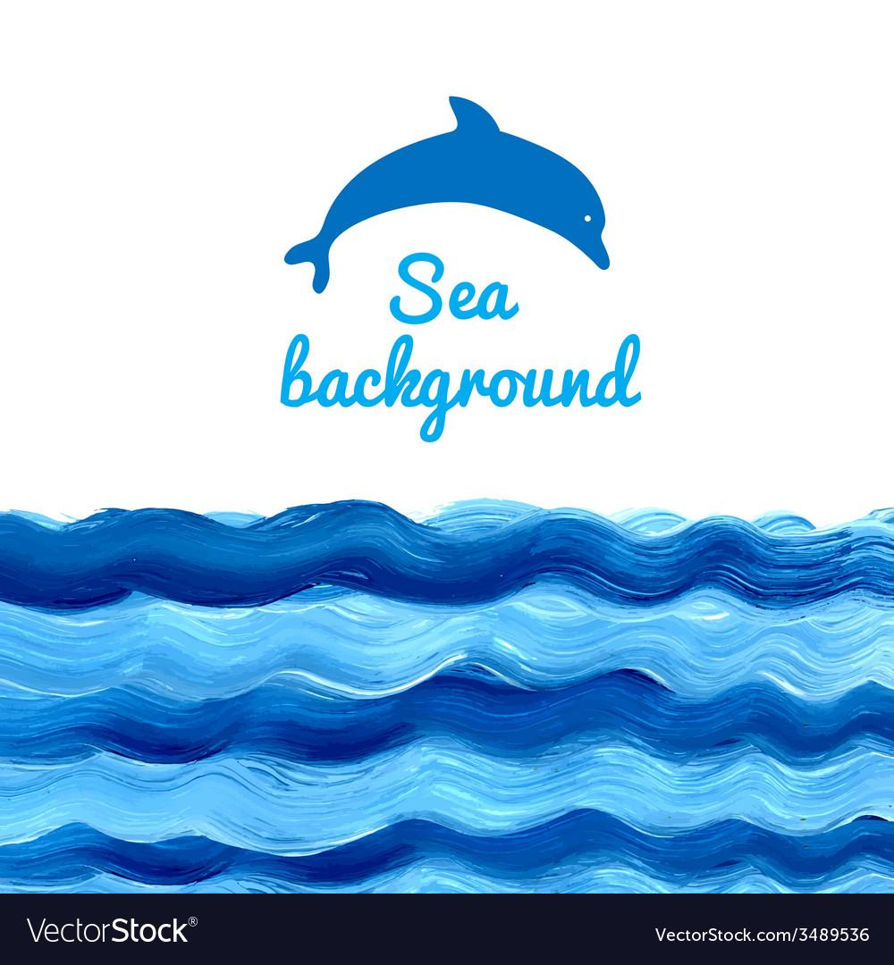 Acrylic sea background vector | Price: 1 Credit (USD $1)
