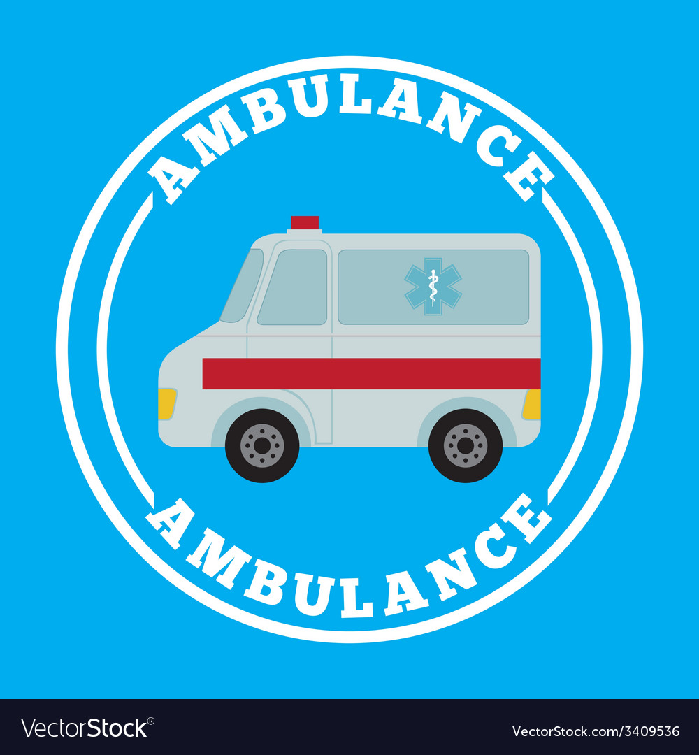 Ambulance design vector | Price: 1 Credit (USD $1)