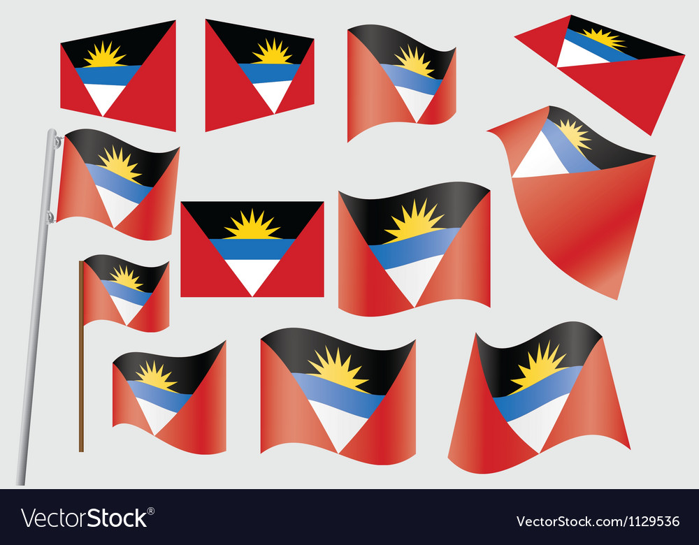 Antigua and barbuda flag vector | Price: 1 Credit (USD $1)