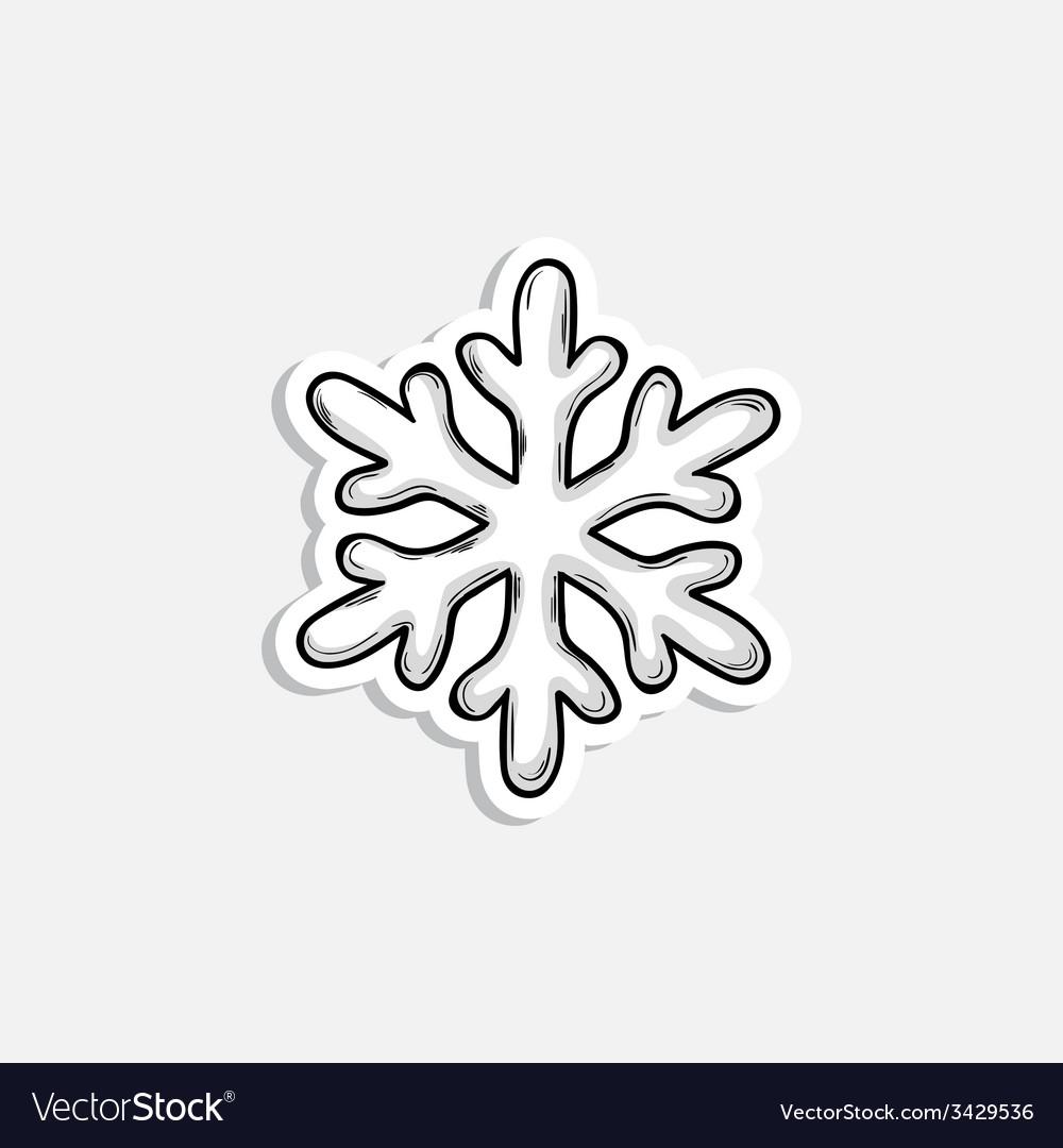 Christmas snowflake icon vector | Price: 1 Credit (USD $1)