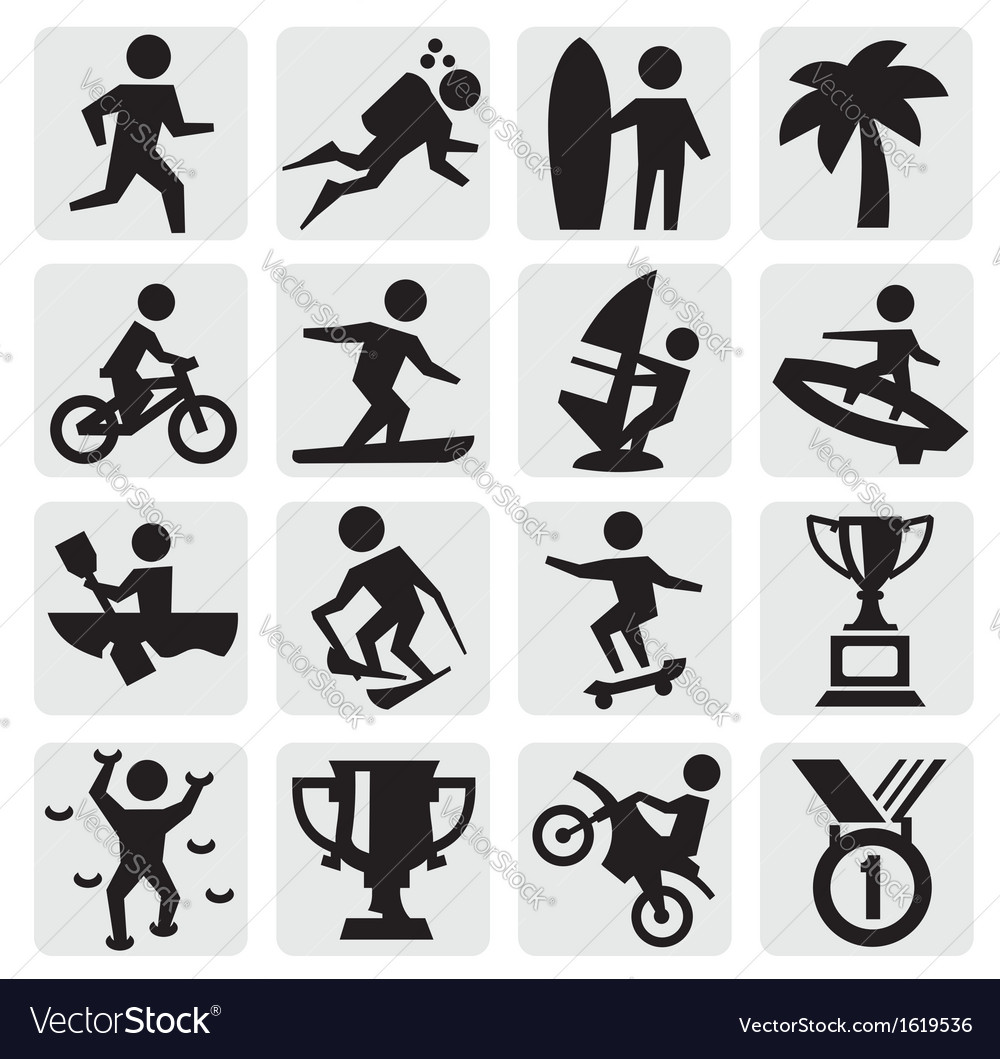 Extreme sports icon vector | Price: 1 Credit (USD $1)