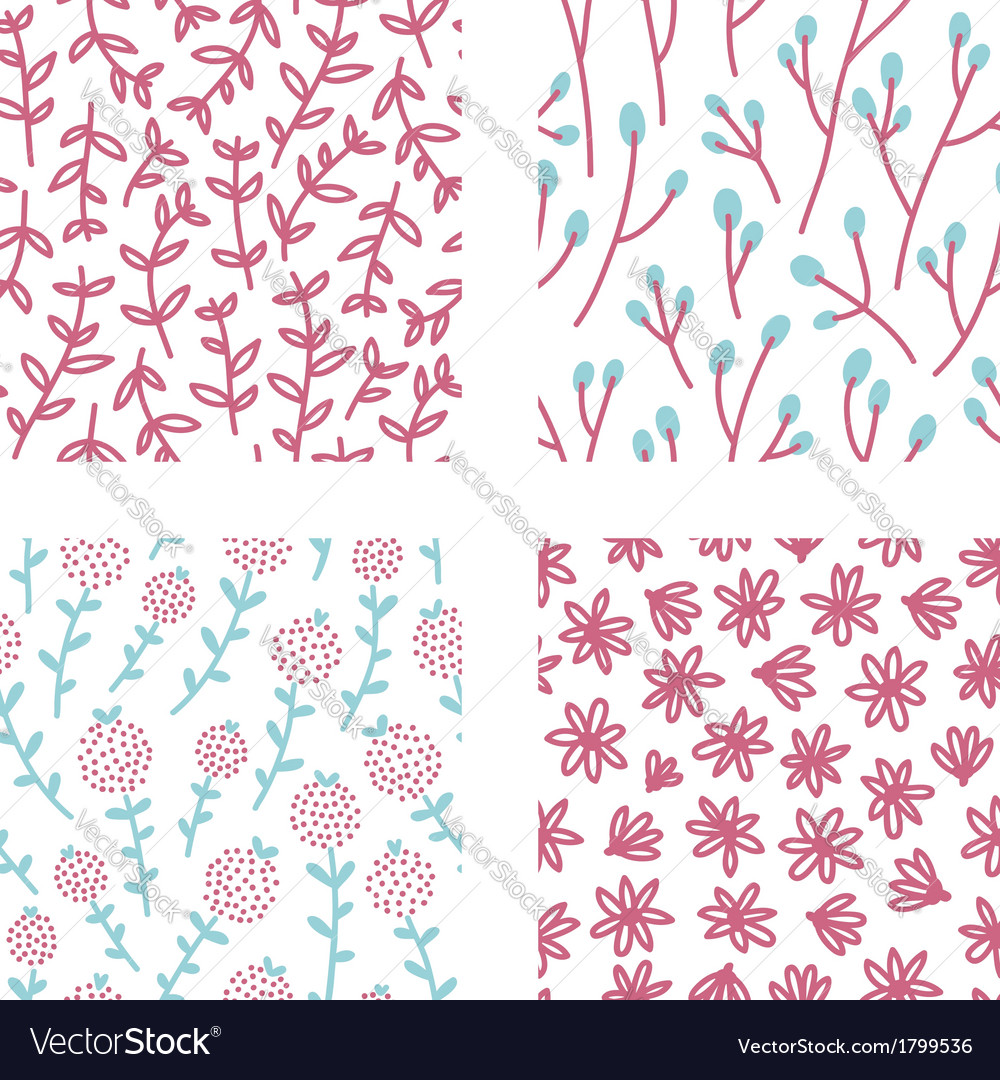 Floral patterns set 2 vector | Price: 1 Credit (USD $1)