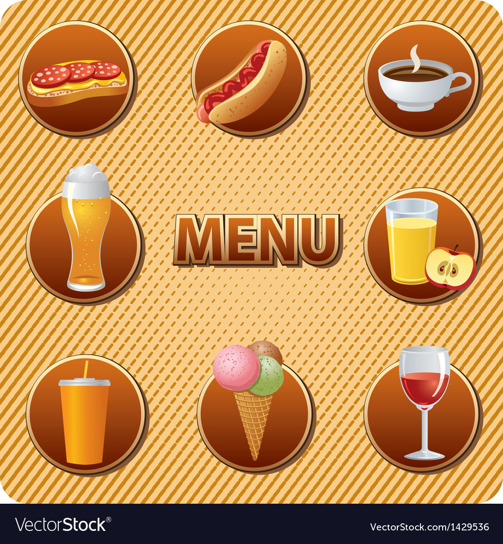 Food menu vector | Price: 1 Credit (USD $1)