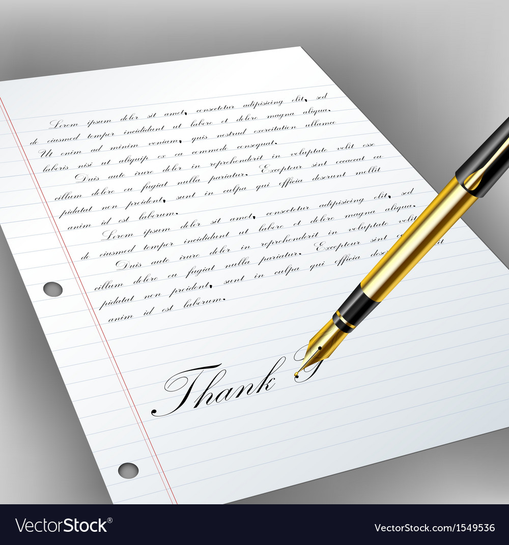 Handwritten letter with fountain pen vector | Price: 1 Credit (USD $1)