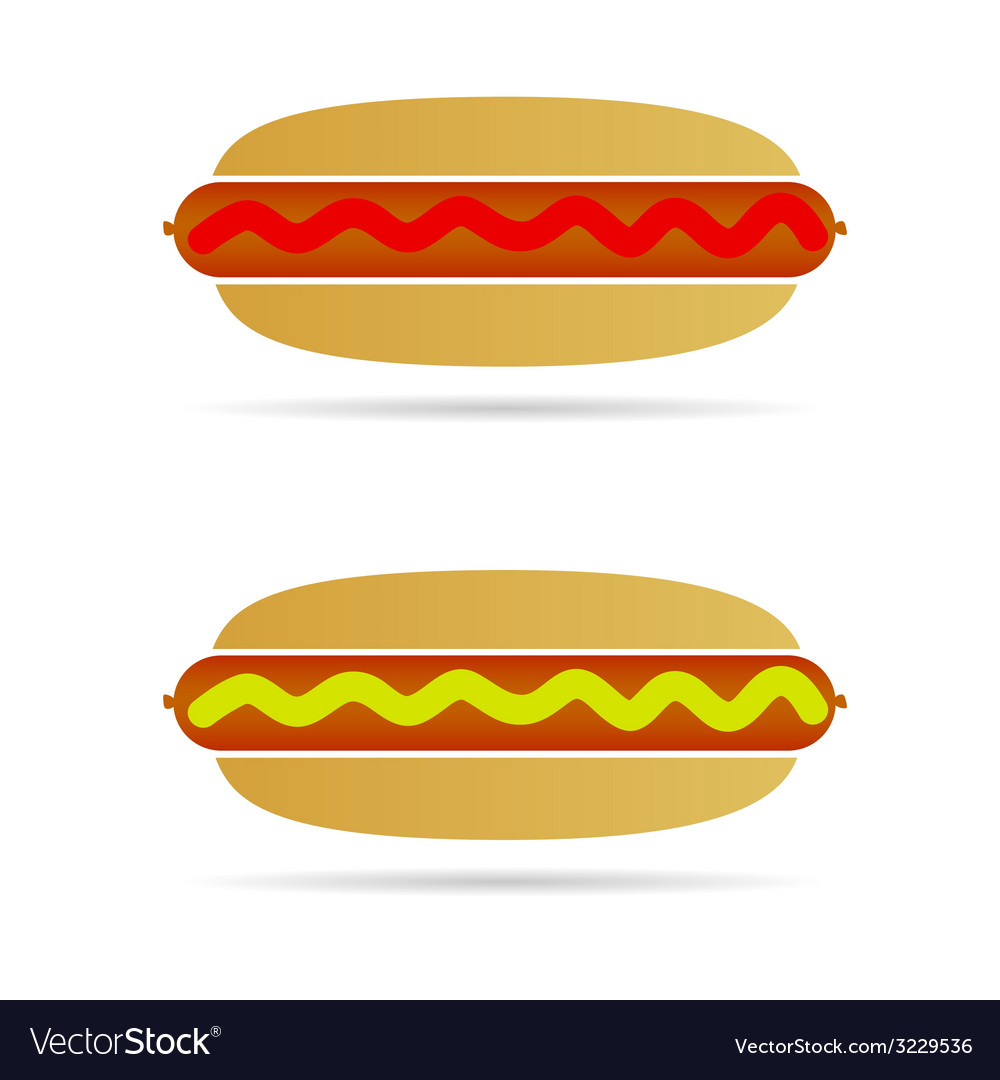 Hot dog color vector | Price: 1 Credit (USD $1)