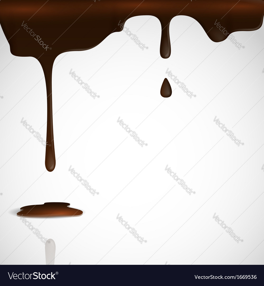 Melted chocolate dripping vector | Price: 1 Credit (USD $1)