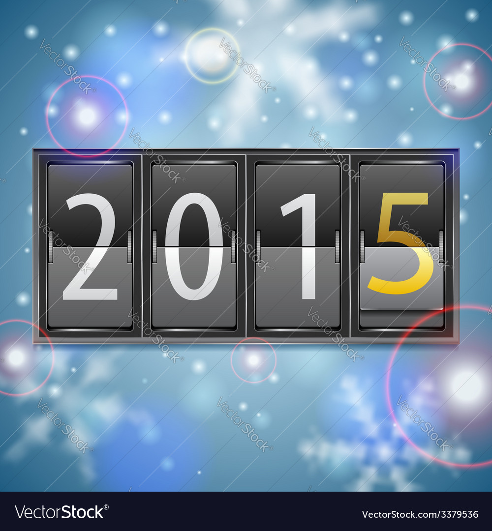 New year 2015 on mechanical timetable vector | Price: 3 Credit (USD $3)