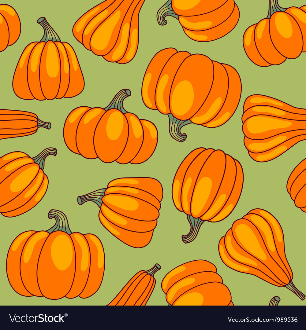 Pumpkin seamless pattern vector | Price: 1 Credit (USD $1)