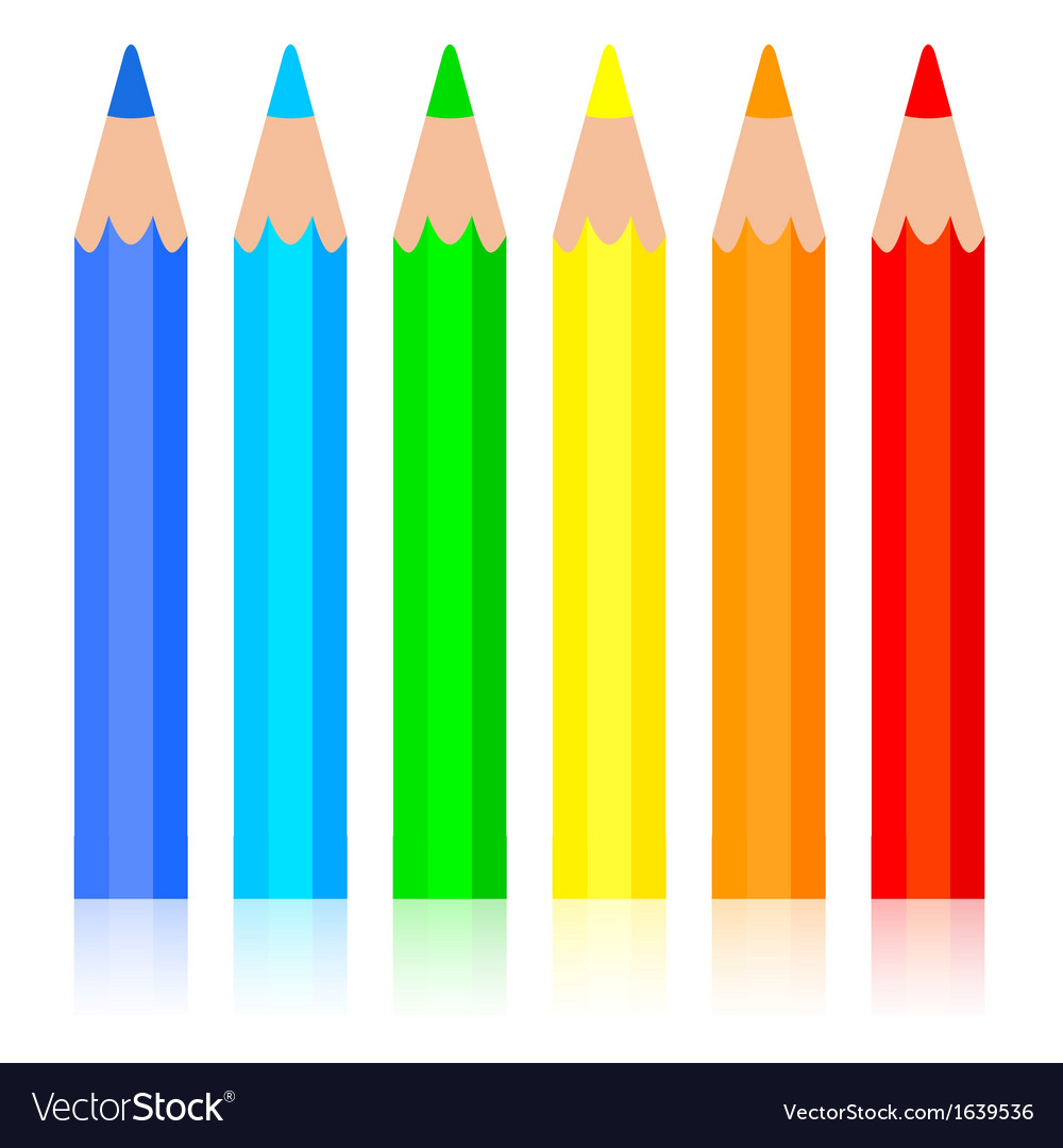 Set of colored pencil vector | Price: 1 Credit (USD $1)