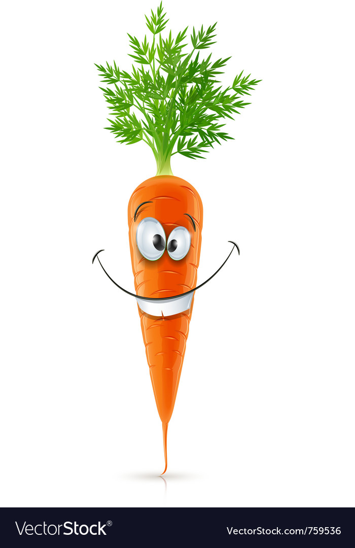 Smiling carrot with top vector | Price: 3 Credit (USD $3)