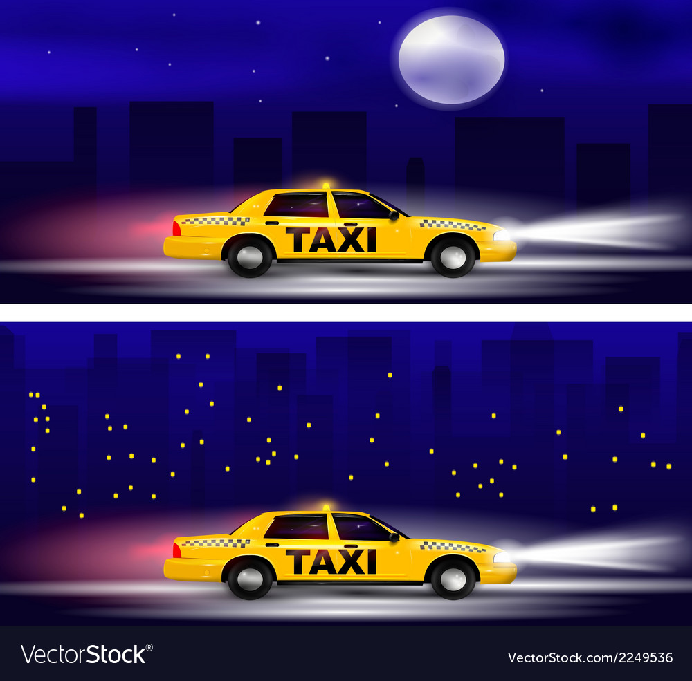 Taxi banner vector | Price: 1 Credit (USD $1)