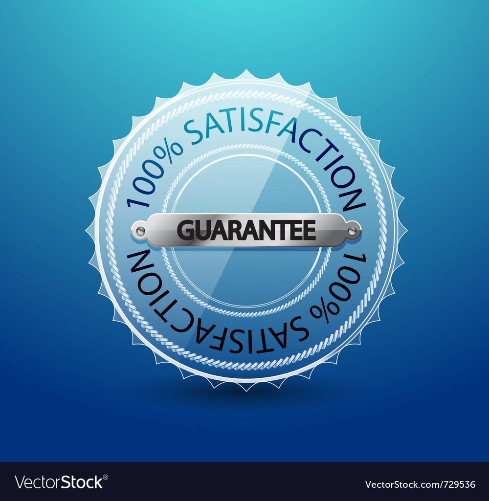 Transparent glass guarantee label vector | Price: 1 Credit (USD $1)